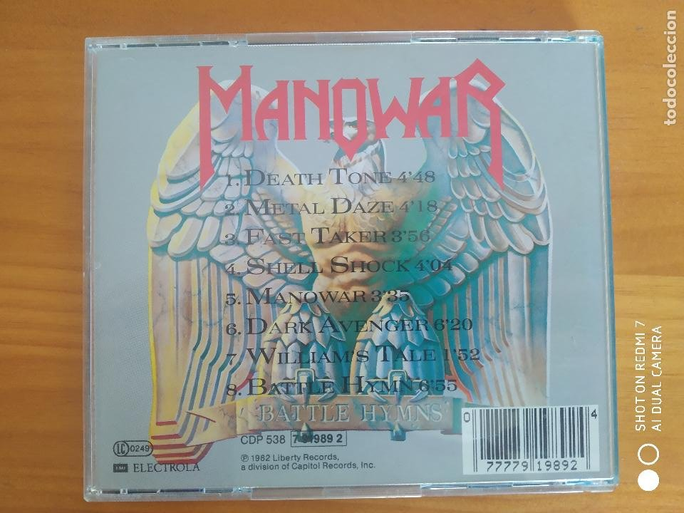 CDs de Música: CD MANOWAR - BATTLE HYMNS (AU) - Foto 2 - 266878064