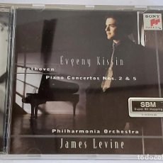 CDs de Música: EUGENY KISSIN / BEETHOVEN PIANO CONCERTOS / JAMES LEVINE / CD-SONY-1997 / IMPECABLE.. Lote 266937429