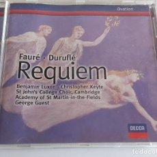 CDs de Música: FAURÉ - DURUFLÉ / REQUIEM / CD - DECCA-1999 / IMPECABLE.. Lote 267106939