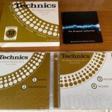 CDs de Música: TECHNICS VOL V 2001 - CON FUNDA DE CARTÓN + MERCHADISING IMPOLUTO - 4 CD GIGI D'AGOSTINO DANCE HOUSE. Lote 267251364