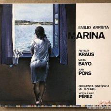 "CD di Musica: EMILIO ARRIETA ""MARINA"" AFREDO KRAUS, MARÍA BAYO, JUAN PONS. VICTOR PABLO PEREZ (TENERIFE). 2 CDS. Lote 267257364"