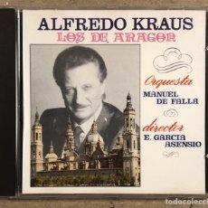 """CD de Música: ALFREDO KRAUS """"LOS DE ARAGÓN"""" ORQUESTA MANUEL DE FALLA. CD CARRILLÓN 1991.. Lote 267283044"""