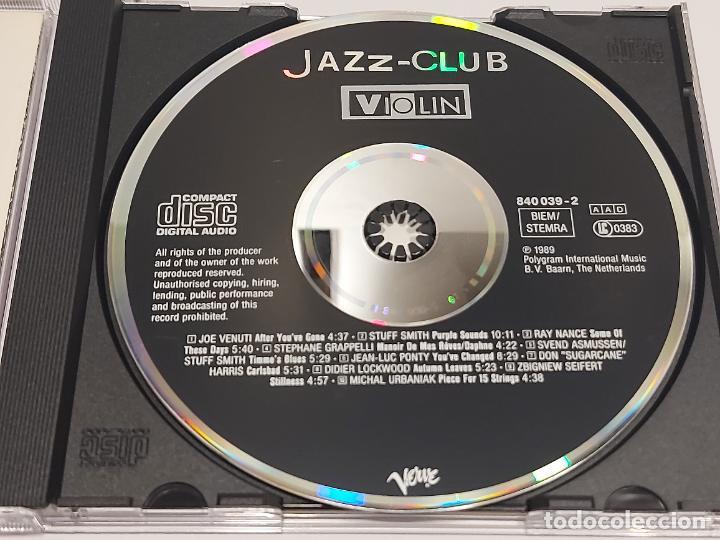 CDs de Música: JAZZ-CLUB / VIOLIN / VARIOS ARTISTAS / CD - VERVE RECORDS-1989 / 10 TEMAS / IMPECABLE. - Foto 2 - 267309834