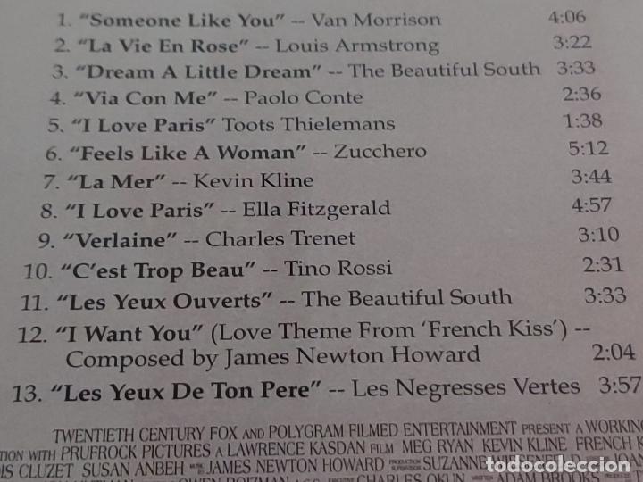 CDs de Música: B.S.O. / FRENCH KISS / VARIOS ARTISTAS / CD - MERCURY RECORDS-1995 / 13 TEMAS / IMPECABLE. - Foto 4 - 267376859