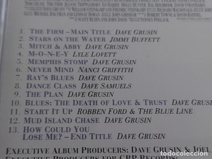 CDs de Música: B.S.O. / THE FIRM / DAVE GRUSIN / CD - GRP RECORDS-1992 / 13 TEMAS / IMPECABLE. - Foto 4 - 267379369