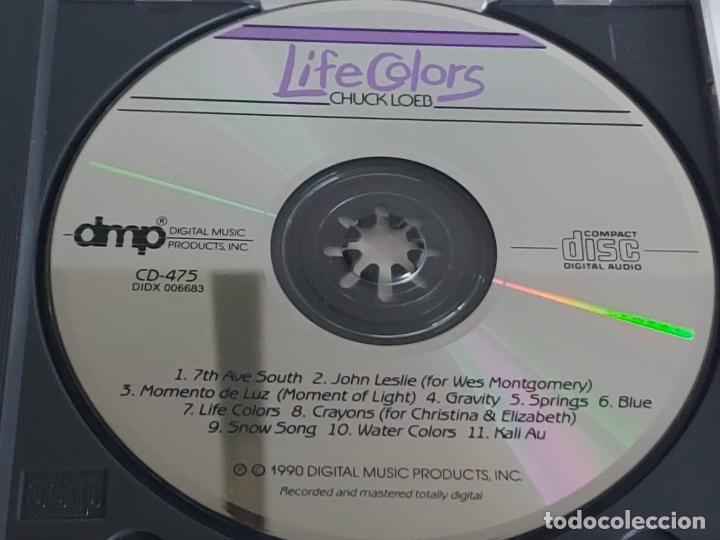 CDs de Música: CHUCK LOEB / LIFE COLORS / CD - DMP-1990 / 11 TEMAS / IMPECABLE. - Foto 2 - 267384829