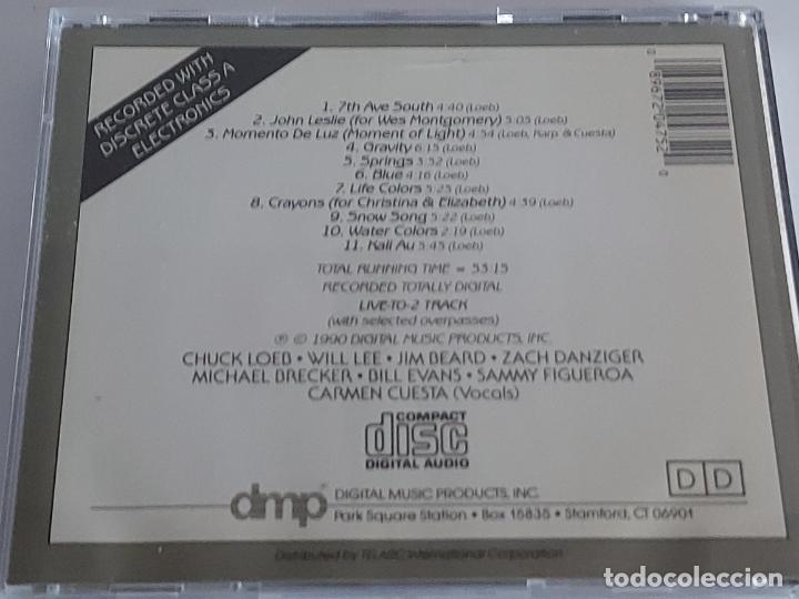 CDs de Música: CHUCK LOEB / LIFE COLORS / CD - DMP-1990 / 11 TEMAS / IMPECABLE. - Foto 3 - 267384829