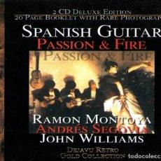 CDs de Música: DOBLE CD ALBUM: SPANISH GUITAR - MONTOYA / SEGOVIA / WILLIAMS - 43 TRACKS - RECORDING ARTS 2002. Lote 267444239