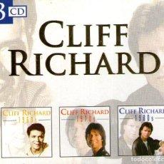 CDs de Música: TRIPLE CD ALBUM: CLIFF RICHARD - 1960S / 1970S / 1980S - 48 TRACKS - DISKY COMMUNICATIONS 1999. Lote 267660794