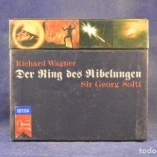 CDs de Música: RICHARD WAGNER, SIR GEORG SOLTI - DER RING DES NIBELUNGEN - 14 CD (PACK 4 BOX). Lote 267745474
