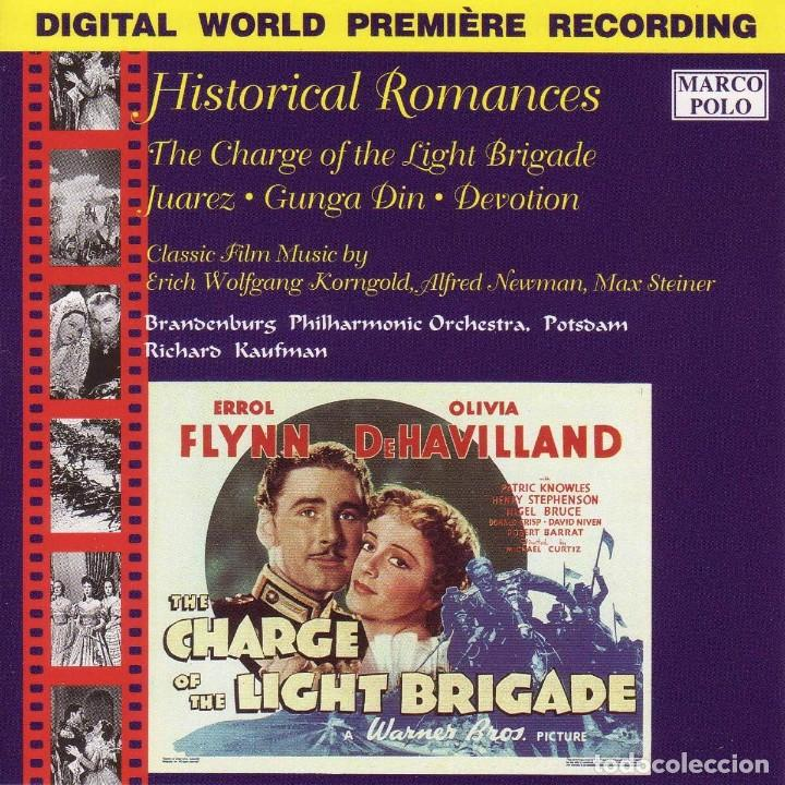 HISTORICAL ROMANCES / MAX STEINER, ERICH W. KORNGOLD, ALFRED NEWMAN CD BSO (Música - CD's Bandas Sonoras)