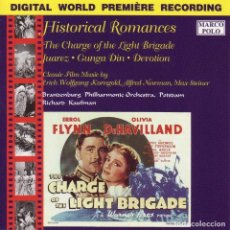 CDs de Música: HISTORICAL ROMANCES / MAX STEINER, ERICH W. KORNGOLD, ALFRED NEWMAN CD BSO. Lote 267848129
