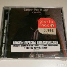 CDs de Música: CAMARON PACO DE LUCIA Y TOMATITO CALLE REAL CD PRECINTADO. Lote 267887769