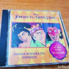 CDs de Música: EL JOROBADO DE NOTRE DAME BANDA SONORA EN ESPAÑOL CD ALBUM DISNEY LUIS MIGUEL THE KELLY FAMILY. Lote 268158909