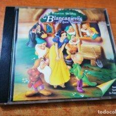 CDs de Música: BLANCANIEVES Y LOS SIETE ENANITOS BANDA SONORA EN ESPAÑOL WALT DISNEY CD 1994 ESPAÑA 26 TEMAS. Lote 268159824