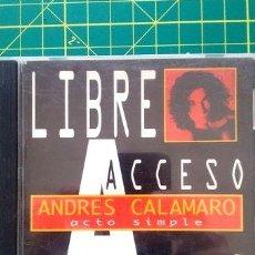 CDs de Música: CD-ANDRES-CALAMARO-ACTO-SIMPLE-LIBRE-ACCESO-. Lote 268248699
