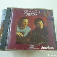 CDs de Música: ITZHAK PERLMAN, JOHN WILLIAMS, NICCOLÒ PAGANINI, MAURO GIULIANI - DUOS - CD -C 7. Lote 268421009