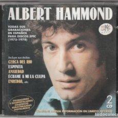 CD de Música: ALBERT HAMMOND - TODAS SUS GRABACIONES EN ESPAÑOL PARA DISCOS EPIC 1975-78 (2XCD RAMA LAMA 1998). Lote 268455104