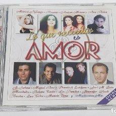 CDs de Musique: 2 CD LO QUE NECESITAS ES AMOR - COMO NUEVO. Lote 268575334