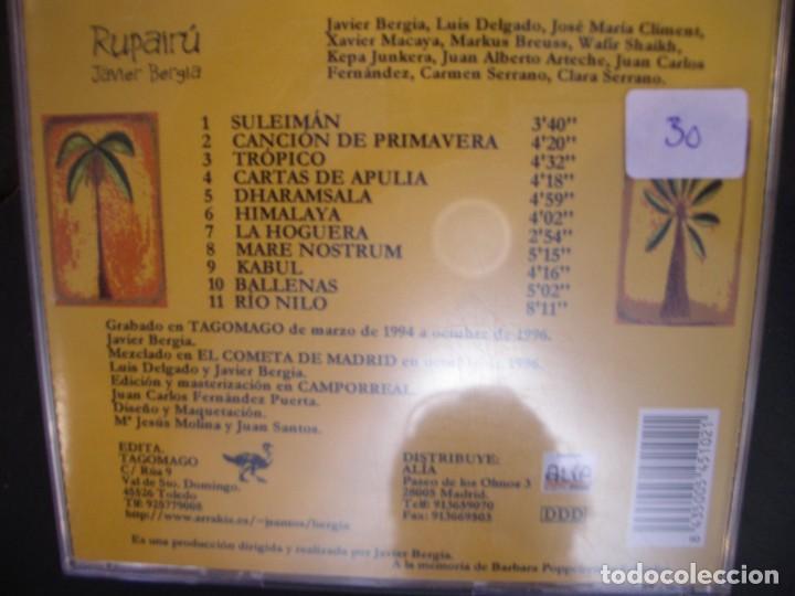 CDs de Música: JAVIER BERGIA- RUPAIRÚ. CD. - Foto 2 - 268718084