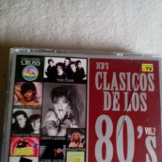 CDs de Música: RDA/ CD/CLASICOS DE LOS 80/2 CDS/ BRUCE HORNSBY/STATUS QUO/TE MISSION/THE CARS. Lote 268746574