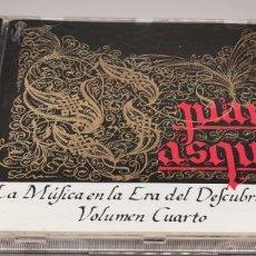 CDs de Música: LA MUSICA EN LA ERA DESCUBRIMIENTO JUAN VAZQUEZ VOLUMEN CUARTO. Lote 268753264