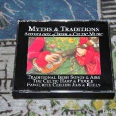 CDs de Música: MYTHS & TRADITIONS - ANTHOLOGY OF IRISH & CELTIC MUSIC - 5X027 - 5 CD SET. Lote 268799759
