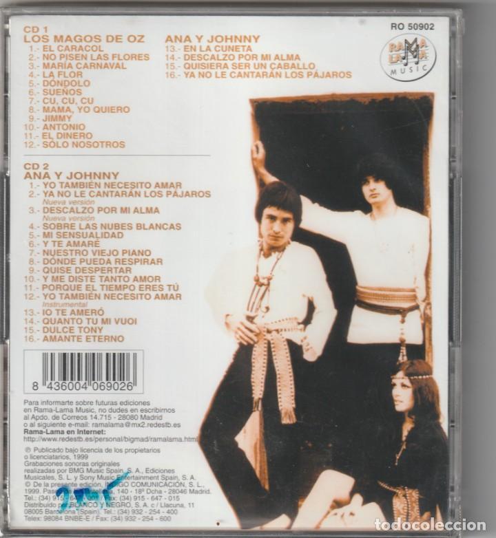 CDs de Música: ANA Y JOHNNY · LOS MAGOS DE OZ - TODAS SUS GRABACIONES 1968-78 (2xCD RAMA LAMA 1999) PRECINTADO - Foto 2 - 268926684