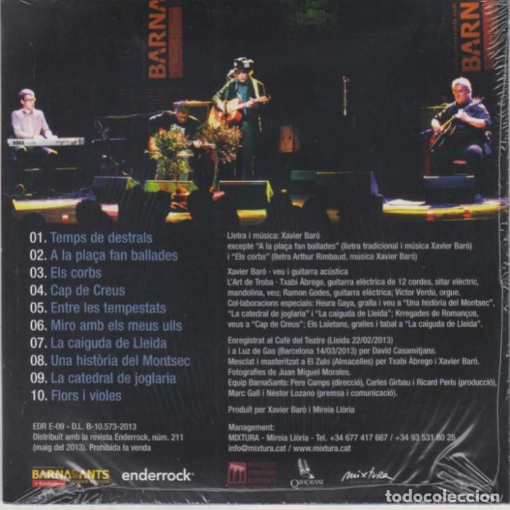 CDs de Música: Xavier Baró amb lArt de la Troba al Barnasants cd La ruta dels genets 2013 (Precintado) - Foto 2 - 268968419
