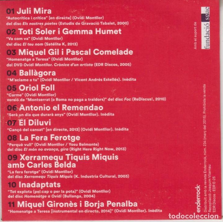 CDs de Música: Maclame a tu - Les cançons dOvidi Montllor 2015 Miquel Gil Pascal Comelade Toti Soler - Foto 2 - 268969119
