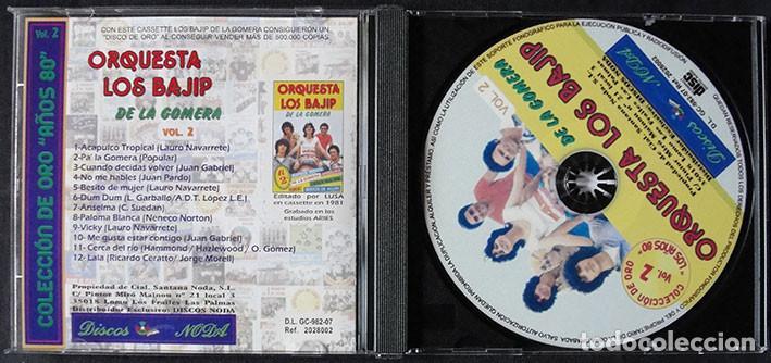 CDs de Música: ORQUESTA LOS BAJIP DE LA GOMERA CD - ORQUESTAS CANARIAS VOL. 2 - DISCO DE ORO EN 1981 - Foto 2 - 268980259