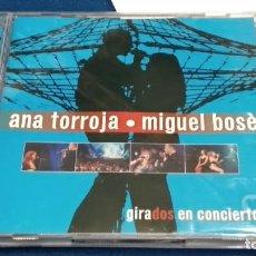 CDs de Música: CD DOBLE ( ANA TORROJA / MIGUEL BOSE - GIRADOS EN CONCIERTO ) 2 CD + LIBRETO - 2000 WARNER. Lote 268987584