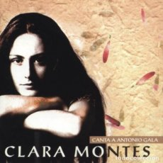 CDs de Música: CLARA MONTES - POEMAS DE ANTONIO GALA. Lote 269029054
