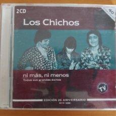 CDs de Música: CD LOS CHICHOS - NI MAS NI MENOS - EDICION 25 ANIVERSARIO (2 CD'S) (ED). Lote 269073858