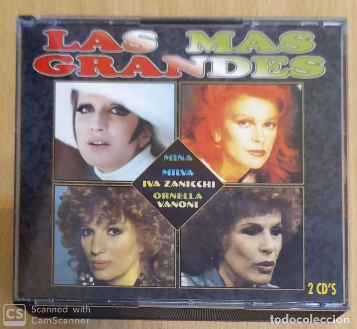 LAS MAS GRANDES - 2 CD'S 1995 (MINA - MILVA - IVA ZANICCHI - ORNELLA VANONI) (Música - CD's Otros Estilos)