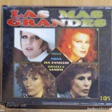 CDs de Música: LAS MAS GRANDES - 2 CD'S 1995 (MINA - MILVA - IVA ZANICCHI - ORNELLA VANONI). Lote 269079038