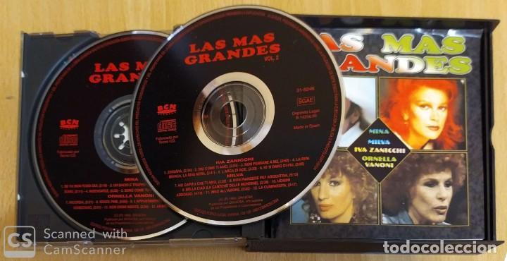 CDs de Música: LAS MAS GRANDES - 2 CDs 1995 (MINA - MILVA - IVA ZANICCHI - ORNELLA VANONI) - Foto 3 - 269079038