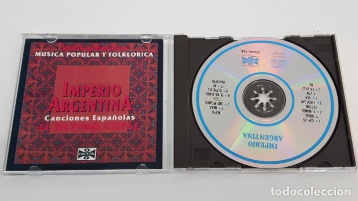 CDs de Música: CD IMPERIO ARGENTINA - EL ULTIMO CUPLE - CANCIONES ESPAÑOLAS - COMO NUEVO - Foto 2 - 269079073