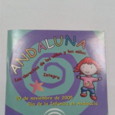 CDs de Música: ANDALUNA LOS DERECHOS DE LOS NIÑOS Y LAS NIÑAS. CD. Lote 269087443