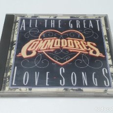 CDs de Música: CD COMMODORES - AALL THE GREAT LOVE SONGS - 1984 - US/CS. Lote 269228013