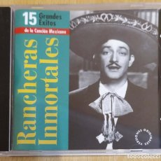 CDs de Música: RANCHERAS INMORTALES - CD 1999 (PEDRO VARGAS, JORGE NEGRETE, MIGUEL ACEVES MEJIA...). Lote 269312543