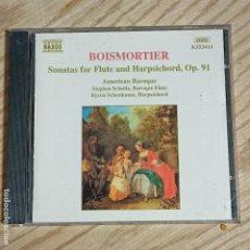 CDs de Música: BOISMORTIER: SONATAS FOR FLUTE AND HARPSICHORD, OP. 91 CD. Lote 269319853