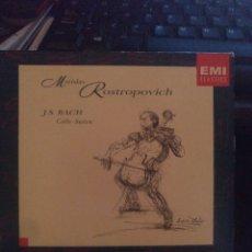 CDs de Música: BACH CELLO SUITES ROSTROPOVICH. Lote 269497123