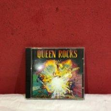 CDs de Música: QUEEN QUEEN ROCKS CD ALBUM 1997 HOLANDA CAJA ORIGINAL PEGATINA BANDEJA CON RELIEVE FREDDIE MERCURY. Lote 269582813