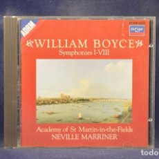 CDs de Música: WILLIAM BOYCE - ACADEMY OF ST. MARTIN-IN-THE-FIELDS, NEVILLE MARRINER - SYMPHONIES I-VIII - CD. Lote 269593963