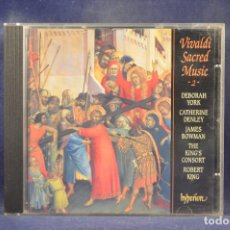CDs de Música: VIVALDI, DEBORAH YORK, DENLEY, BOWMAN, THE KING'S CONSORT, ROBERT KING - SACRED MUSIC - 2 - CD. Lote 269594433