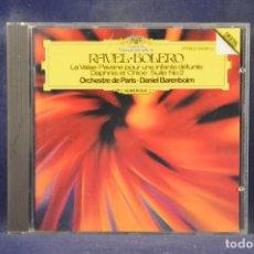 CDs de Música: RAVEL: ORCHESTRE DE PARIS, DANIEL BARENBOIM - BOLERO, LA VALSE, PAVANE, DAPHNIS ET CHLOÉ - CD. Lote 269599253