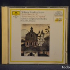 "CDs de Música: MOZART, LONDON SYMPHONY ORCHESTRA, CLAUDIO ABBADO - SYMPHONY NO. 40 / SYMPHONY NO. 41 ""JUPITER"" - CD. Lote 269608193"