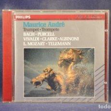 CDs de Música: MAURICE ANDRÉ - BACH, PURCELL, VIVALDI, CLARKE, ALBINONI, L. MOZART, TELEMANN - TROMPETE - CD. Lote 269609093