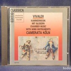 CDs de Música: ANTONIO VIVALDI, CAMERATA KÖLN - KAMMERMUSIK MIT BLÄSERN - CD. Lote 269610178